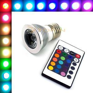 China E27 3W Bulb Lamp Colorful 16 Color Changing RGB LED Light Bar AC85-265V + IR Remote on sale