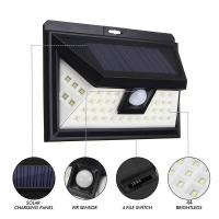 China Integrated Solar Energy 100 LED IP65 Outdoor Solar Wall Lamp Wireless With Motion Sensor on sale