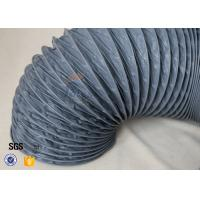 Quality Fire Resistant 200℃ PVC Coated Fiberglass Fabric Flexible Air Duct For Ventilation wholesale