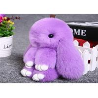 Quality Pink Rabbit Fur Keychain wholesale