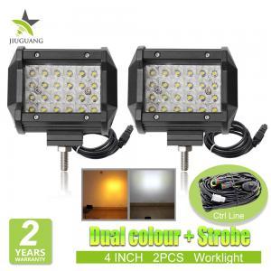 Quality Dual Color Burst Strobe Led Light Bar , IP 68 Rate Led Warning Lights wholesale