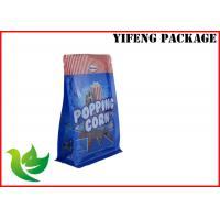 Buy cheap Popping Corn 8 Side Sealed Flat Bottom Pouch PET PE Standup Pouches Printing product