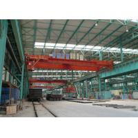 China Double Beam Workshop Overhead Crane 50 Ton With Wireless Radio Remote Control on sale