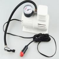 China White Mini Air Pump With 45cm Hose , Hand Held Heavy Duty Car Air Compressor on sale