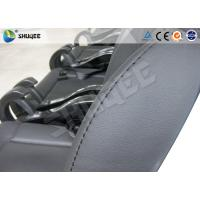 Quality Black / Red Genuine Leather 5D Movie Theater , Fiberglass Chair Electronic System wholesale