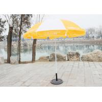 Quality Stable Big Beach Umbrella , Branded Promotional Umbrellas With 210D Oxford Fabric wholesale