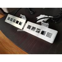 Quality 3 Outlets Desk Mounted Power Sockets With 2 USB Ports , Desktop Power And Data Outlets wholesale