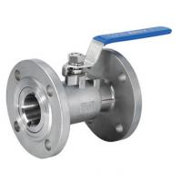Quality DN15 Reduced Bore One Piece Ball Valve Flange End With Manual Operated wholesale
