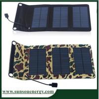 Cheap Small power 5w USB charger-port folding solar panel, foldable solar panel phone charger for outdoor usage for sale