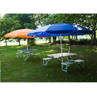 Quality Outdoor Garden Table Parasol , Polyester Fabric Patio Table Umbrella 4C Print wholesale