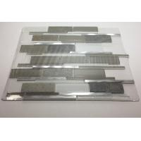 Quality Art Gray Select Glass Mosaic Tile Backsplash Mix Aluminum Mosaic Strip Shaped wholesale