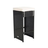 Quality Stackable Height 700mm Depth 400mm Modern Wicker Bar Stools Durable wholesale