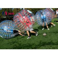 Quality Free Blower Bubble Ball Inflatable Bumper Air Soccer Ball Blue Red wholesale