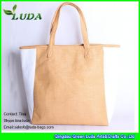 Quality striped paper straw bags lady oversized beach bags wholesale