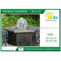 Quality Hexagon Base Natural Stone Fountains Outdoor For Lanscape Hand Carved wholesale