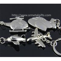 China Metal air plane keychains, combat aircraft drop pendant keyrings, jet aircraft key chains, on sale