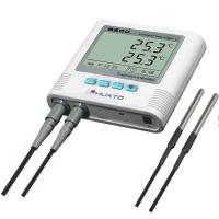 Cheap Dual Temperature Humidity Data Logger With Alarm Function High Accuracy for sale