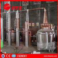 Quality Yellow Copper Wine Making Machine CE Commercial Distilling Equipment wholesale