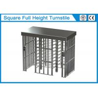 Quality Square Full Height Security Turnstile Gate 1.5mm Thickness With Two Card Reader Window wholesale