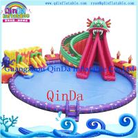 Quality Octopus Inflatable Water Slide with Swimming Pool inflatable slide for pool wholesale
