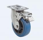 Quality SUS304 Stainless Steel PU Caster Wheel Heavy Duty Dual Ball Heat Treated Raceways wholesale