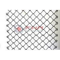 Chinese Manufacturer of Black Chain Link Fence Wholesale 50mm Hole Size 9 Gauge Wire
