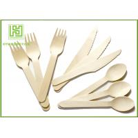 Quality 100% Natural Wooden Retail Eco Friendly Cutlery 100 Forks 100 Knives 100 Spoons wholesale