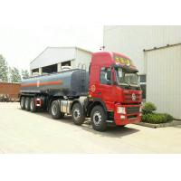 Quality 3 Axles Spring Suspension Chemical Tanker Truck For 33CBM Sodium Hypochlorite NaOCl wholesale