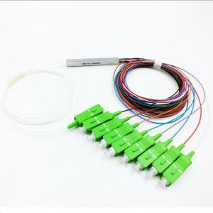 China 1×8 Fiber PLC Splitter Single Mode Blockless PLC Fiber Optic Coupler on sale