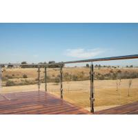 Quality Balcony Railing Glass Price m2, Stainless Steel Square Pipe Railing Design wholesale
