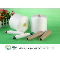 Cheap Raw White Polyester Core Spun Yarn For Knitting / Sewing On Paper / Plastic Cone for sale