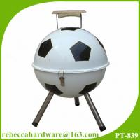 China 14 football shaped barbecue equipment charcoal bbq grill on sale