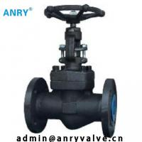 China 600Lb Forged Steel Valves F6a 13%CR Flanged End RF Wedge Globe Valve on sale