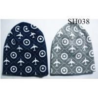 Quality men's knitted beanie good style and high quality SH038 adults acrylic hats wholesale