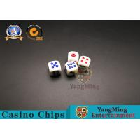 China 15#16# High Density Melamine Playing Cards Dice White Blue Color Sculpture Games Wins Plastic Dice on sale