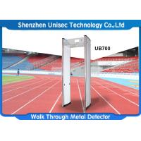 Quality 6-24 zones walk through metal detector used in hotel, metro station security scanner door frame metal detector wholesale