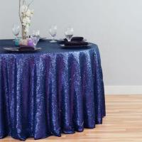 Quality High Quality Wholesale Custom Cheap polyester party home hotel banquet wedding 120 inch sequin round tablecloth wholesale
