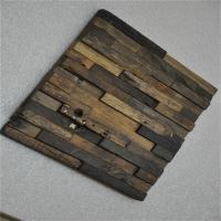 Quality Boat Wood Mosaic Wall Panels , 3D Ceiling Tiles For Hotel Decoration wholesale