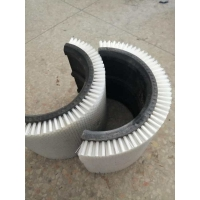 China Industrial Roller Brushes For Paper Machine Molecular Knife Brush Corrugated Board Circular Knife Brush on sale
