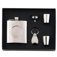 Quality Stainless steel hip flask gift set wholesale