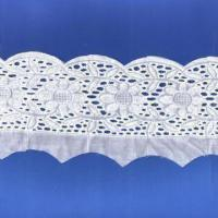 Quality 9.2cm Cotton Embroidered Lace, Different Patterns and Colors are Available wholesale
