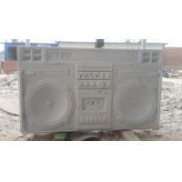 China White marble boombox sculpture,Customized marble sculpture for exhibition,China stone carving Sculpture supplier on sale
