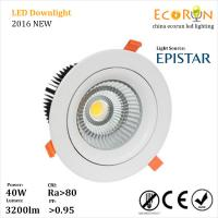 Quality ce rohs approved dimmable led downlight cree cob led downlight 40w 50w adjustable wholesale