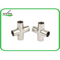 Quality Mirror Polishing Sanitary Pipe Fittings Cross Pipe Fittings For Pharmaceutical Engineering wholesale