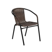 Quality 73cm Height 53cm Width PE Rattan Chair , Rattan Wicker Garden Chair Commercial Use wholesale