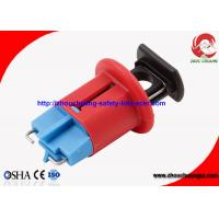 Quality Red Safety Electrical Fuse Lockout , Miniature Circuit Breaker Lockout with Pin In Standard wholesale
