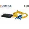 Buy cheap Yellow FTTH Couplers 1*9 Fiber Optic Splitter CATV Splitter Optical Fiber Distribution Box from wholesalers