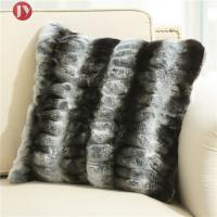 China dark gray stripe Chinchilla faux Fur Decorative Pillow cover , cushion cover for sofa Bedroom 18inch*18inch on sale