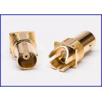 China Gold-plated PCB board Straight female BNC RF coaxial connector on sale