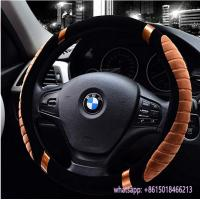 Quality hot sell winter use warm fur car beige steering wheel cover for TOYOTA wholesale